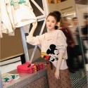 GG ディズニー コラボ シリーズ ミッキー マウス セーター gg Disney  プルオーバー 春トップス ニット かわいい スリムシルエット Mickey ニット 長袖 丸首 ディズニー キャラクター ミニー お洒落 女性向け レディース