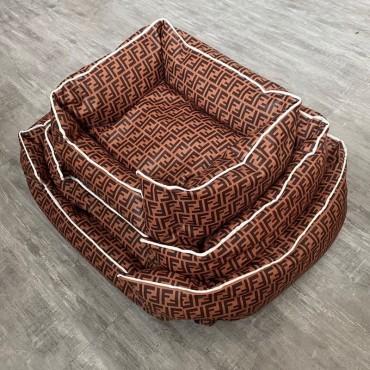フェンディペット ベッド 冬 犬 猫 角型 洗える スーパーコピー ペット用品ふわふわ Gucciグッチペットソファベッド角型Mサイズ FF柄 犬 ベッド角型 ルイヴィトン 模様 かわいい 暖か