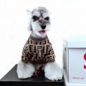 フェンディ ブランド ドッグウェア Fendi モンスター 犬猫用セーター FF柄 おでかけコート ふわふわ 冬 暖かい ペット洋服 犬服 ネコウェア かわいい おしゃれ コピー