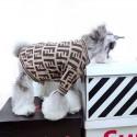 フェンディ ドッグウェア ブランド Fendi 犬猫用セーターモンスター  FF柄 おでかけコート ふわふわ 冬 暖かい ペット洋服 犬服 ネコウェア かわいい おしゃれ コピー