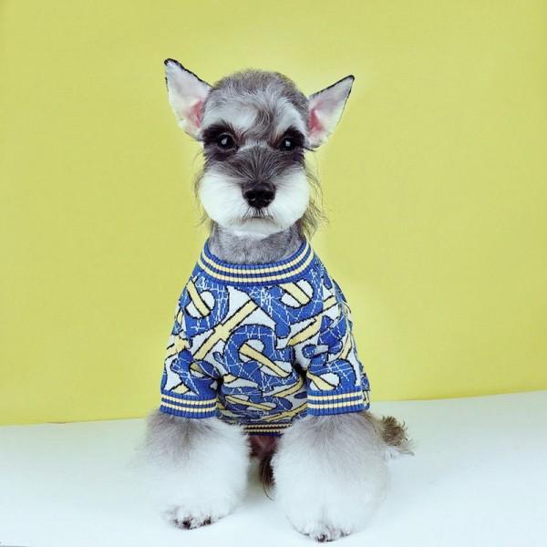 Burberry 犬服 ペット散歩用 犬 洋服 ブランド偽物バーバリー ペット用品 小型犬 テディ シュナウザー ふわふわ 冬 おでかけ 暖かい犬用セーターコピー猫服 ドッグウェア 半袖