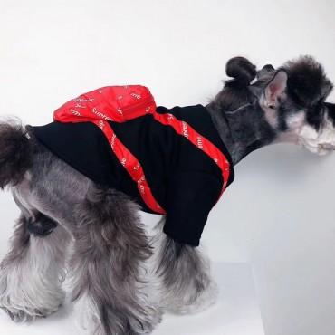 シュプリームペット服 犬服 ドッグウェア  Champion ペットTシャツ パーカー 洋服 かわいい 秋冬服 小物収納 バッグ付き  防寒  暖かい Supreme スフィンクス服 トイプードル服 犬猫用 チャンピオンペットウェア よい肌触り 柔らかい ファッション 人気 ブランドコピー 小中型犬服