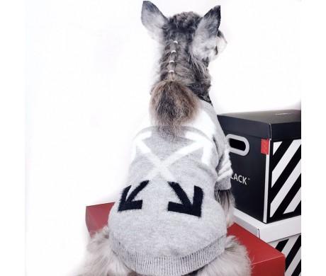 冬のお散歩ブランドBOY LONDON OFF WHITE コピー犬用セーター あったかくて可愛すぎる【コピーペット用犬洋服特集3】