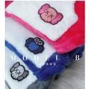 カウズ ペットフード付きコート オシャレ スフィンクス防寒抜群もこもこ可愛い  ドッグウェア ブランド KAWS ペット服 お洒落 フワフワ犬猫 洋服 個性 カウズボタン式 着脱簡単
