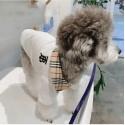 Burberry ブランド 猫犬服 ペット散歩用 バーバリー ペット用品 シンプル カッコイイ ハンサム小型犬  ブリティッシュショートヘア おでかけ 犬用ラペルポロシャツ コピー猫服 ドッグウェア 両足