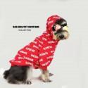 シュプリームペット服 犬服 ドッグウェア  ペットTシャツ パーカー 洋服 かわいい 秋冬服 小物収納 帽子付き 防寒 暖かい Supreme スフィンクス服 トイプードル服 犬猫用 よい肌触り 柔らかい ファッション 人気 ブランドコピー 小中型犬服