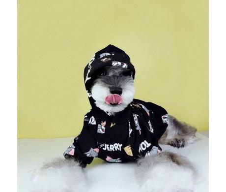 Tom and Jerry トムとジェリー ペット犬服帽子付き犬服 秋冬着散歩のアイテム オススメ
