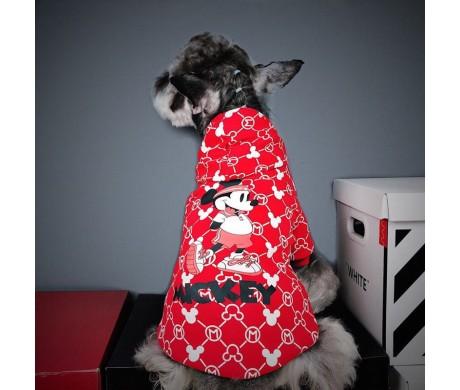 冬のお散歩ブランドフェンディ ドッグウェアとディズニー ミッキーマウス 犬服 ハンサムで暖かい【コピーペット用犬洋服特集5】
