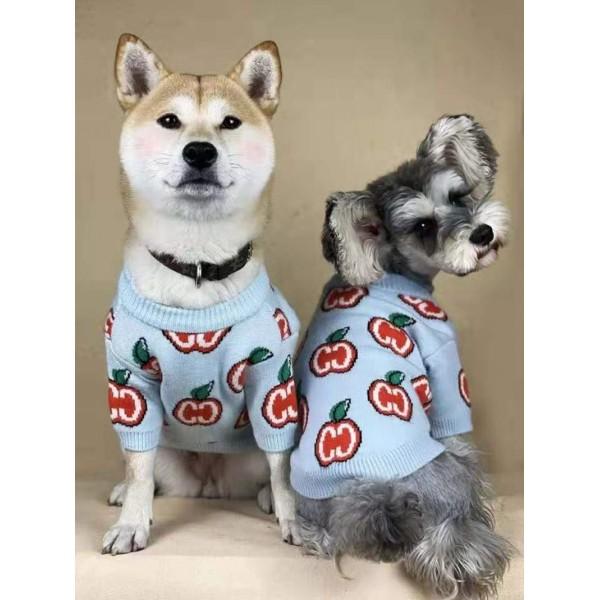 GG ブランド もこもこ犬服 ペット散歩用 ブランド ペット用品 小型犬 スフィンクス ふわふわ おでかけ 暖かい 犬用セーター 猫グッズ ドッグウェア 長袖 冬 コピー