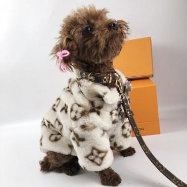 ルイヴィトン風犬のリード 犬のお散歩グッズ 犬首輪リード 小中大型犬に向け オシャレ lv風リード 首輪  ペット牽引縄 牽引ロープ犬用リード  首輪