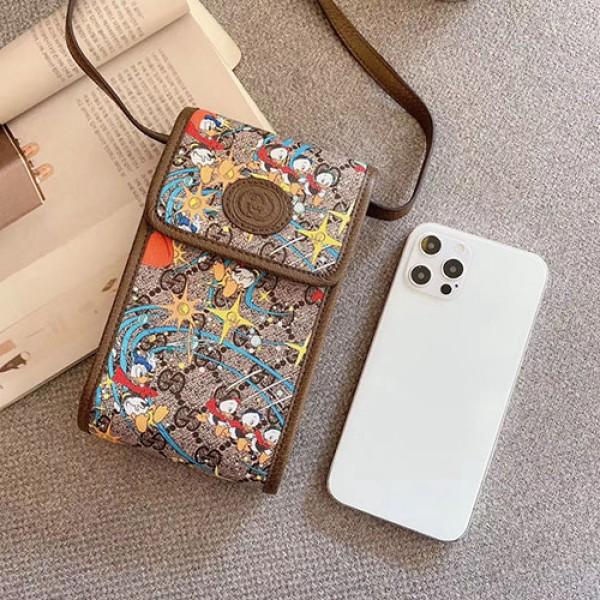 GG スマホケース 二つ折り 財布 カードケース スマホバック ウォレット 小銭入れ カードケース ミニバッグ ショルダー 斜め掛け 携帯ケース ポシェット スマホ全機種対応 PU レザー スマホケース iphoneケース ギャラクシー 耐衝撃