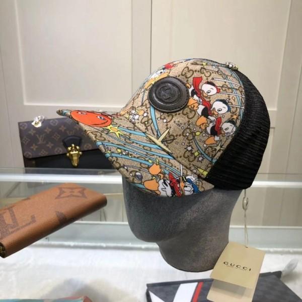 DISNEY & GG キャップ ファッション 帽子 夏用 メッシュキャップ 紫外線対策 UVケア 日焼け防止 かわいい ドナルドダック 男女兼用 綿製 スポーツ ローキャップ ベースボールキャップ  調整可能 55~59cm 綿製