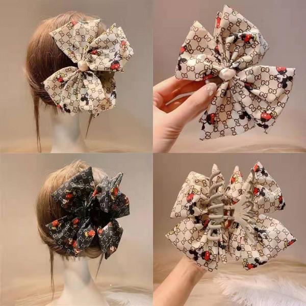 グッチディズニーコラボ ヘアアクセサリー 髪留め レディース シンプル かわいい おしゃれ プレゼント まとめ髪 可愛い ギフト ボウノット 着物アクセサリー 卒業式 ミッキー付き