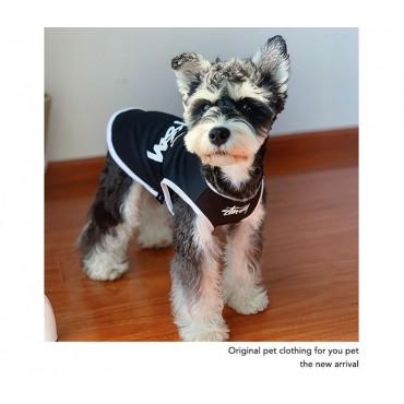Stussy 犬服 ペットウェア 落書き風 ストリート系ブランド ドッグ洋服 小型犬用 大型犬用 送料無料 大人気 ステューシー ペットのチョッキ ワンちゃん服 おしゃれ