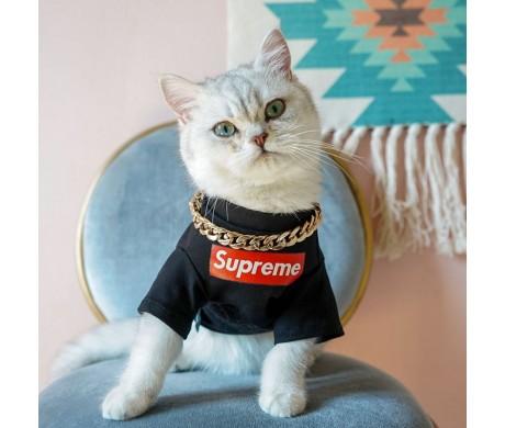 ブランド シュプリーム 犬猫服 Tシャツ ドラえもん 限定販売