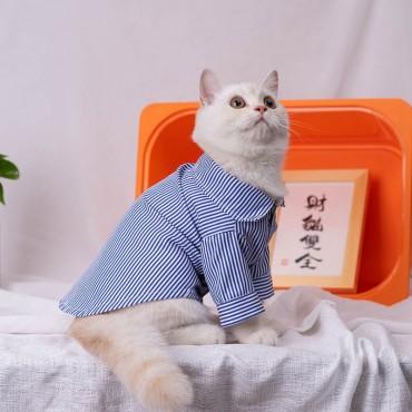 Champion 犬服 薄手 犬のtシャツ チャンピオン 猫服 ペットウェア ブランドシンプル ハンサム小型犬 ブリティッシュショートヘア   冬 おでかけ 暖かい犬用ラペルポロシャツ コピー猫服 ドッグウェア 両足