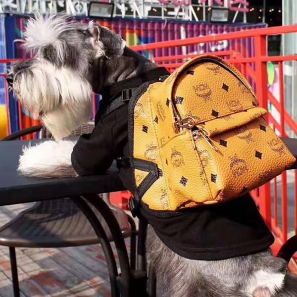 エムシーエム 犬のバッグ 犬のお散歩グッズ ブランド 小中大型犬に向け MCM ミニバッグ ハーネス リード 胴輪 ペット オシャレ コピー