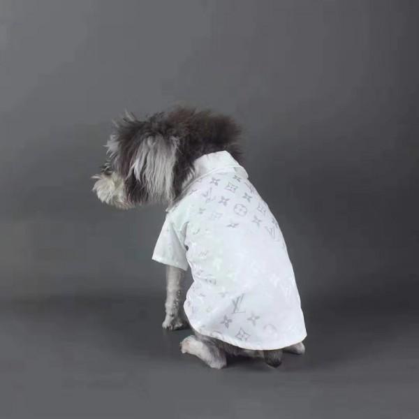 ルイヴィトン 犬服 ペット用品 シンプル ハンサム LV 小型犬 ブリティッシュショートヘア ドッグウェア 両足 猫服 ペット散歩用 ブランド おでかけ ペット服 皮膚病犬 犬用ラペルポロシャツコピー猫服