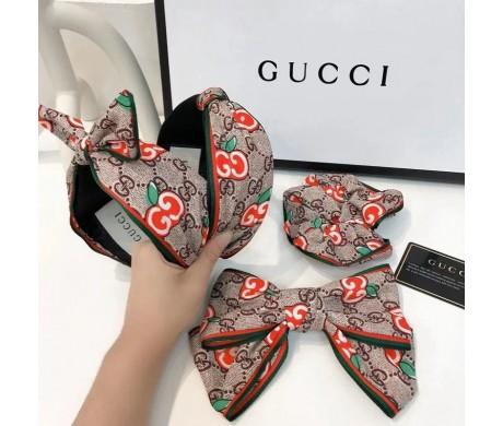 グッチ カチューシャリボン付き可愛いヘアバンド髪飾りgucci レディース