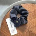 レディース シャネル ヘアシュシュ 女子 ブランド グッチ ヘアバンド上品 オシャレ シンプル CHANEL黒色シフォン髪飾り かわいい 蝶結び付き ココマーク刺繍GG刺繍 ヘアアクセサリー