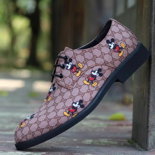 GG&ディズニー ショートブーツ 革靴 秋冬春 gg シューズ ブランド 靴 ミッキーマウス ラバー カッコイイ スーパー ブランド コピー 激安 メンズ 2021新作 レディース向け
