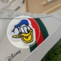 GG&ディズニー コラボ ブランド ドナルドダック スニーカー 牛レザー ラバー gg靴 偽物 スーパー コピー 激安 パロディ カジュアル メンズ レディース