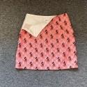 GG x ディズニーコラボ ピンク系スカート GG ミッキーマウス Aライン ブランド プリント入り ロゴ 短い ヒップスカート 潮流 カジュアル 芸能人愛用