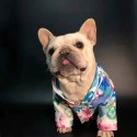 ルイ・ヴィトン ブランド ペット服 犬服 部屋着 エアコン対応 春夏対策 薄い 長袖 Tシャツ 定番モノグラム 水彩絵 おしゃれ 個性 猫服 ペットウェア テディ犬 シュナウザー  かわいい ゴッグ服 かっこいい柔らかい 快適