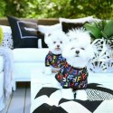 フェンディ ブランド ペット服 犬服Tシャツ ドッグウェア FFプリント おしゃれ モノグラム 猫服トップス春夏 薄い ペットウェア かっこいい テディポメラニアンハンサム 小中型犬 かわいい 通気性ペット用品s-xl