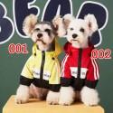 バレンシアガ ブランド ペット服 犬ジャケット 猫ちゃん コート カッコイイ 帽子付き 暖かい 防風 ファッション 犬服 パロディー 大人気  長袖 ドッグウェア 防水 洋服