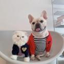 川久保玲 ペット服 犬 ニットセーター かわいい 犬服 保温ドッグウェア おしゃれ 心目柄 ペットコート ボタン付き 着安い 猫服 ファッション ワッペン付き 犬 洋服 お散歩