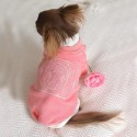 ルイヴィトン ブランド ペット用品 犬の服 犬 パーカー 厚手 裏毛 暖かい ピンク かわいい ペットウェア 犬猫服 ドッグウェア ペットシャツ 仮装 犬 洋服 柔らかいファッション 小型犬 中型犬
