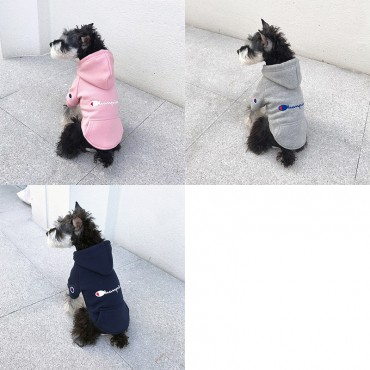 Champion ブランド ペットの用品 チャンピオン犬服 犬のパーカー かわいい 猫スウェット 厚手 暖かい フード付き オーバーオール 防寒 秋冬向け ペット服 洋服 小型犬 中型犬