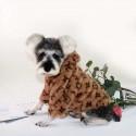LV ブランド ルイヴィトン ペットウェア かわいい 犬服 冬用 ドッグウェア ペット服 ふわふわ 小型犬 中型犬  フード付き 暖かい 猫犬服
