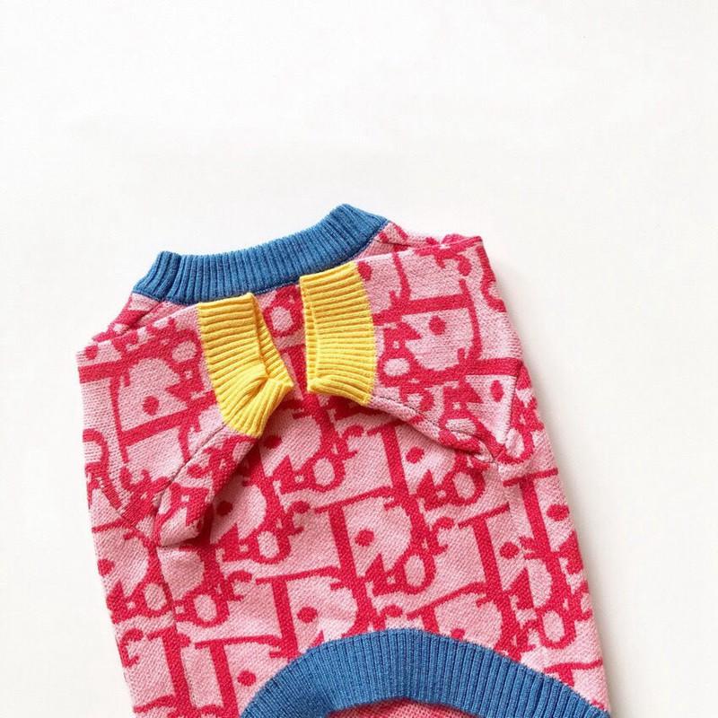 ディオール冬暖かい犬用セータープードル 猫服パロディ