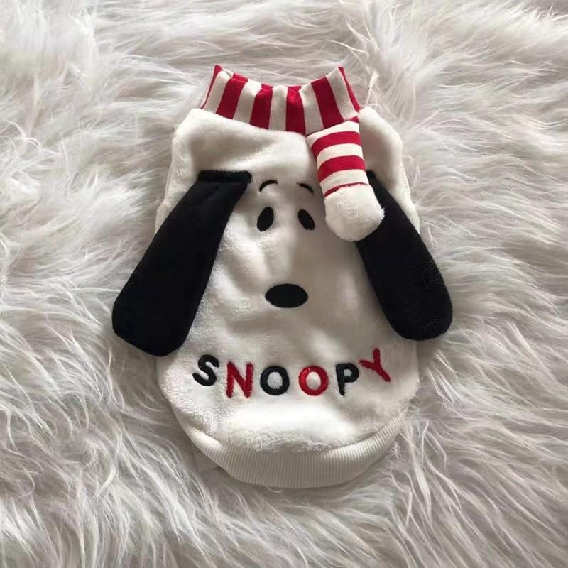 かわいいSnoopy犬服 犬用品 ペットモフモフマフラー
