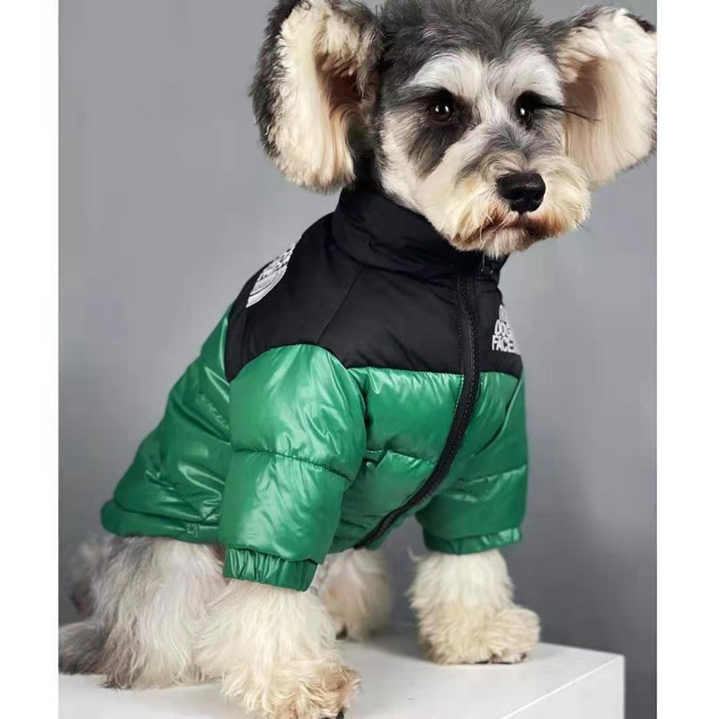 ブランドザノースフェイスコピー ペット洋服 雪の中