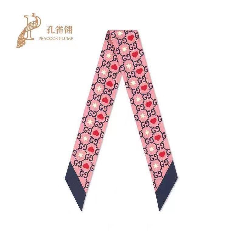 ディズニー GG コラボ リボン 両面 髪飾り 5種 サテン スカーフ柄 アクセサリー