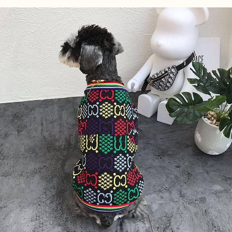gg 犬服 犬用ニット セーター ドッグウェア 防寒 チワワ ダックス 動きやすい お出かけ お散歩 おしゃれ パロディ