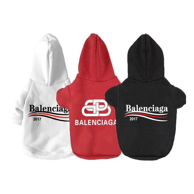 バレンシアガ ペット服 balenciaga ブランド 帽子付き ベスト犬猫服 パーカー