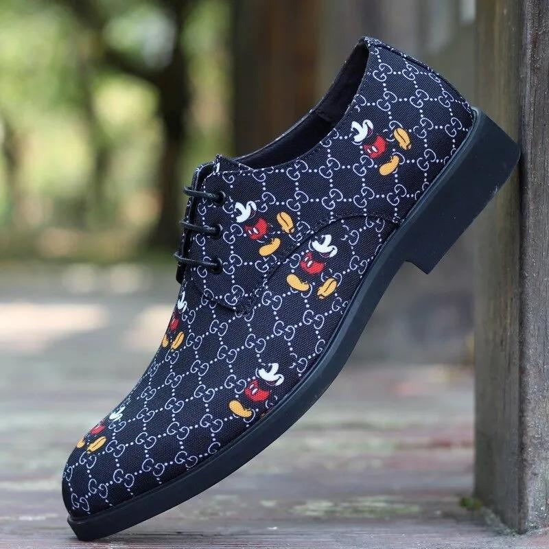 GG ディズニー 革靴 ミッキー シューズ ブランド ゴム製 お洒落な靴 安い 春秋冬 2021 コピー