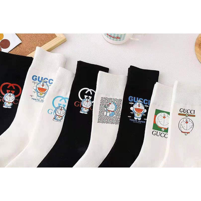 GG ドラえもん コラボ シリーズ GG 靴下 一点セット 二点セット 綿製 暖かいミドルソックス