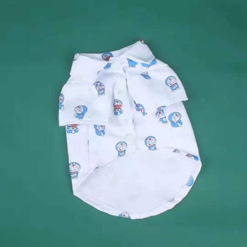 GGドラえもん ブランド 猫犬 夏シャツ ペット服 ペット散歩用 おでかけ かわいい 犬用ラペル テディ チワワ コピー