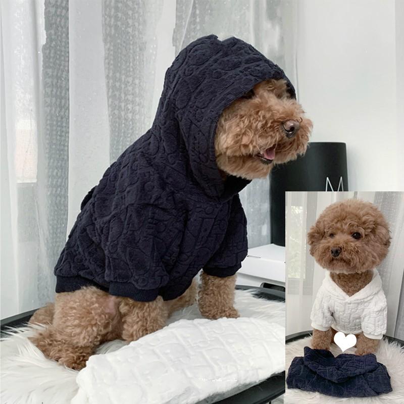 ディオール Dior ブランド ニットセーター ペット服 パーカー フード付 暖かい おしゃれ 小中型犬着服