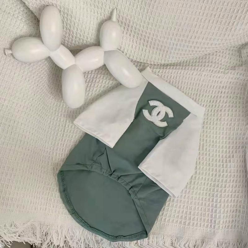 CHANEL 薄手  ペット用 Tシャツ 柔らかい スフィンクス ペット服 コットン ドッグウェア シャネル 小型ペット