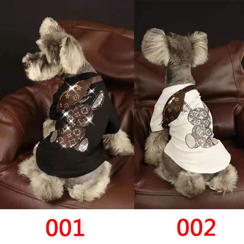 LV ペット服 薄手Tシャツ 柔らかい きらきら スフィンクス コットン ペット用 個性