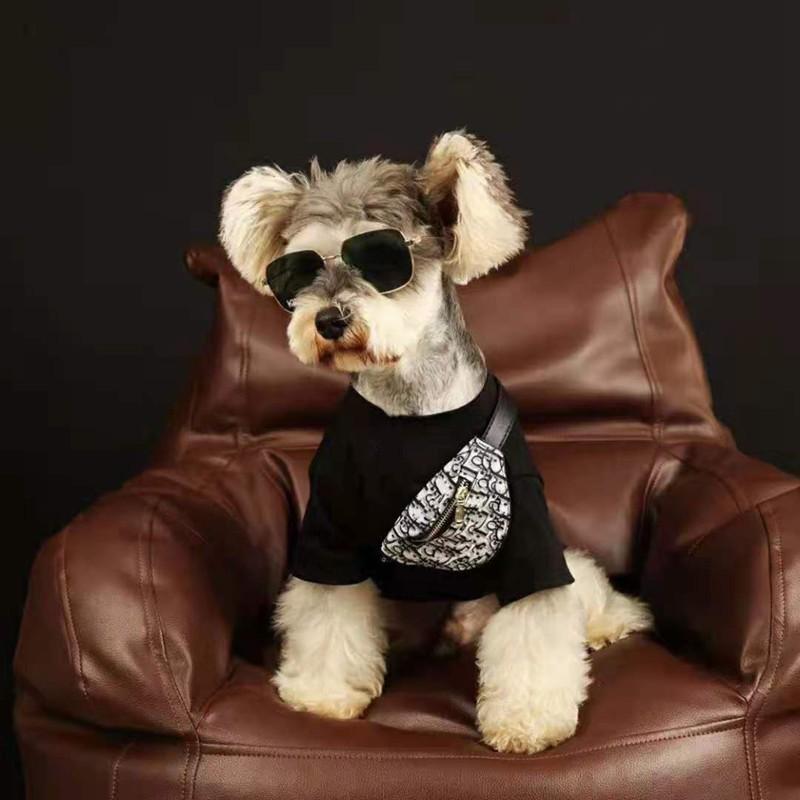 LV ペット服 薄手Tシャツ 柔らかい きらきら スフィンクス コットン ペット用 個性ウサギ柄 ドッグウェア 小型ペット
