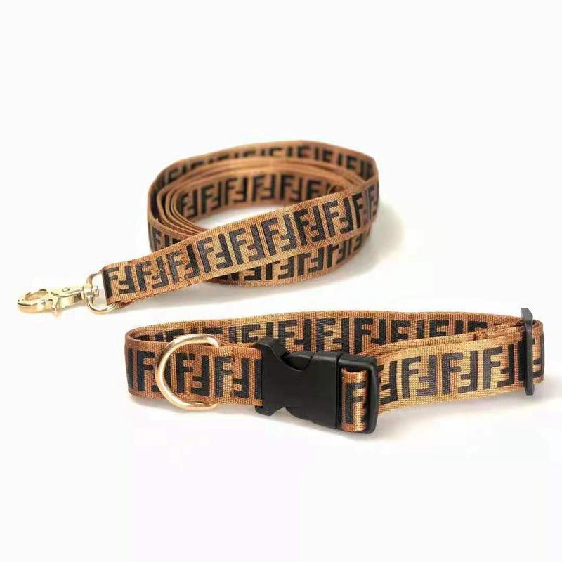 ブランドフェンディ犬の首輪リードハーネスセット丈夫ファッション