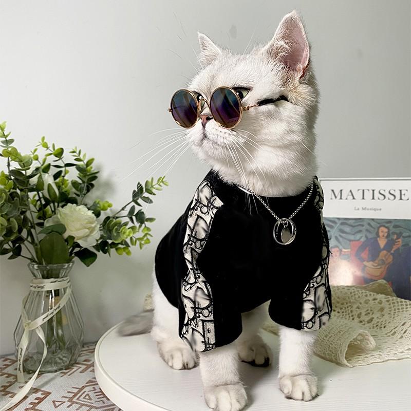 ブランドディオール猫服長袖カッコイイ