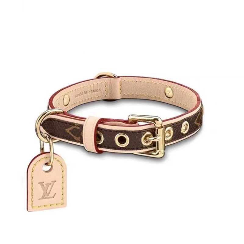 LVブランド犬の用品首輪牽引紐セット上質レザー製品